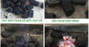 Cách nhóm than bằng cồn